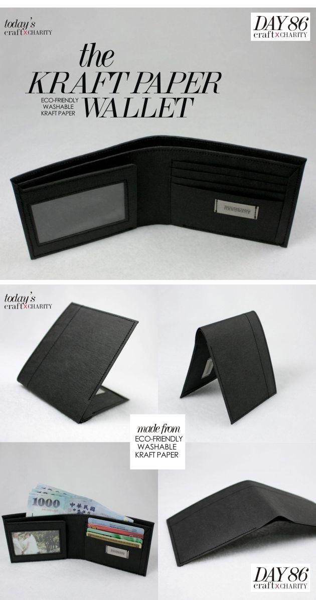 4adb553f87 Day 86 - Eco-friendly Washable Kraft Paper Wallet (black) by SIDONIE YANG