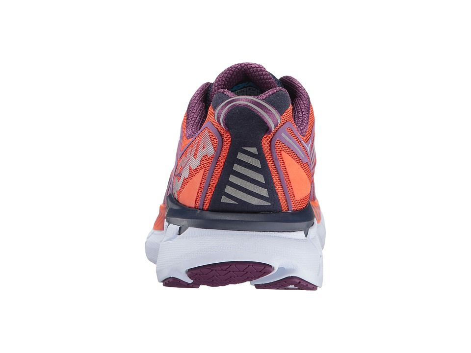 d41818f499aee Hoka One One Clifton 4 Women s Running Shoes Red Orange Peacoat ...