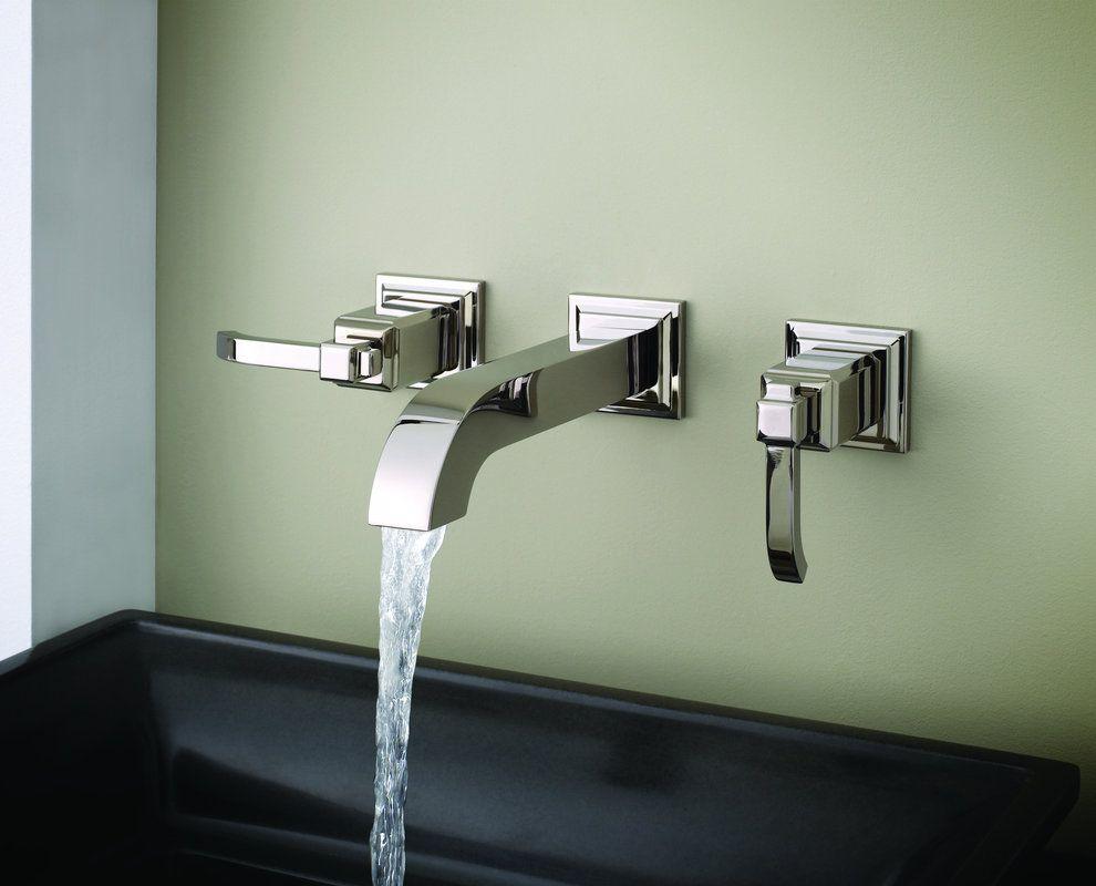 Pfister gtwek brushed nickel carnegie bathroom faucet wall