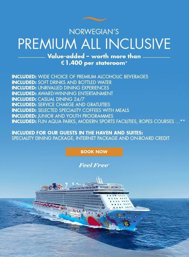 All Inclusive Cruises >> Norwegian Cruise Line Unveils Premium All Inclusive