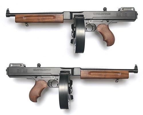 thompson m1a1 no stock bang bang guns firearms weapons