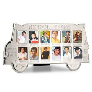Personalized Silver School Years Bus Photo Frame With Images