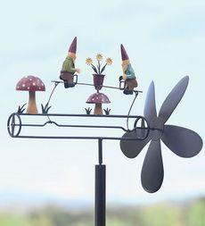 Beau Spinning Gnome Garden Whirligig On Stake