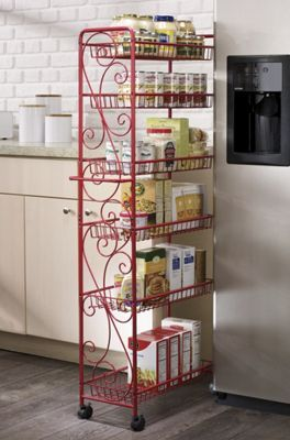 Scrolled Rolling Pantry Rolling Pantry Kitchen Pantry Cabinets No Pantry Solutions
