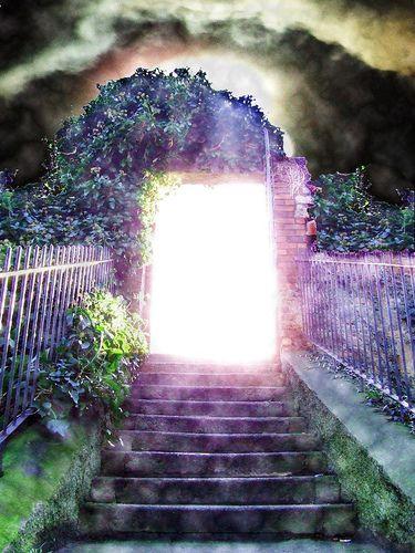 Image  result for prophetic art open doors to heaven gif