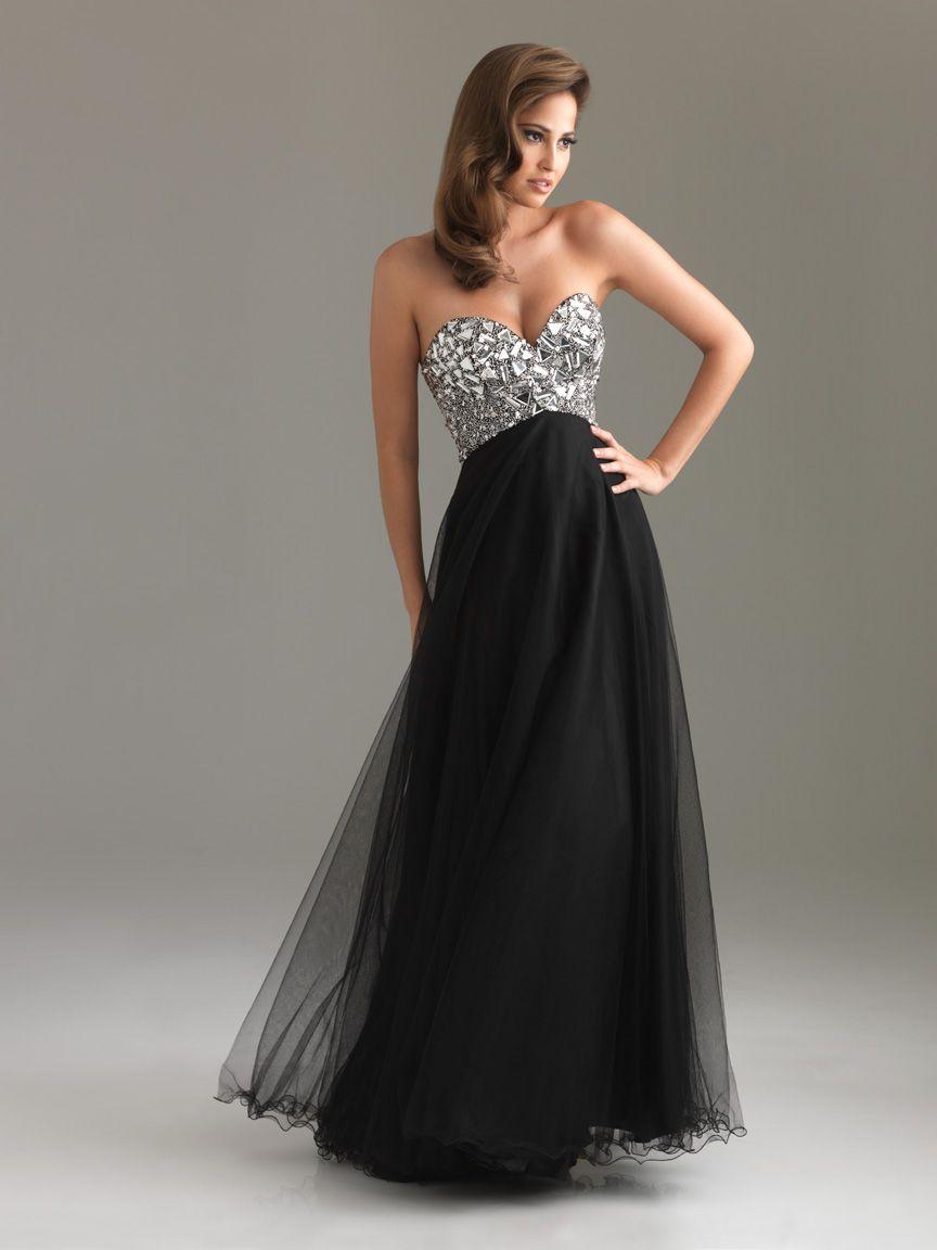 Long black strapless dress prom dresses pinterest prom black