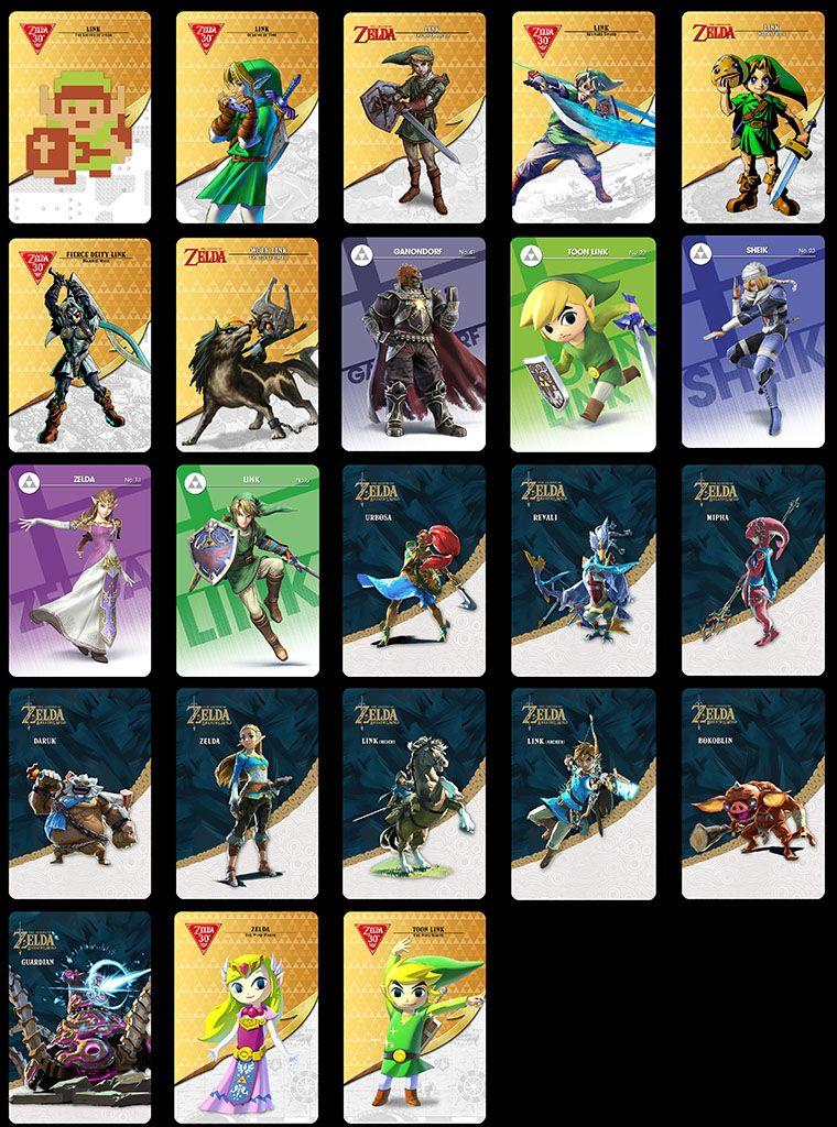 7f2ba21e0 The legend of zelda botw amiibo cards - sets and singles | Amiibo ...
