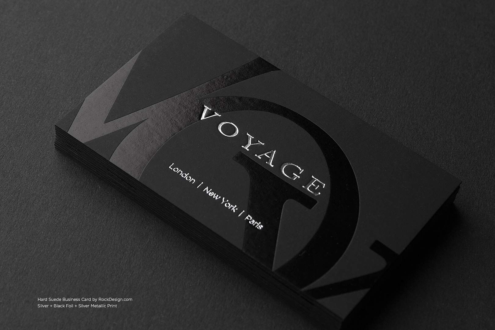 black on black business cards