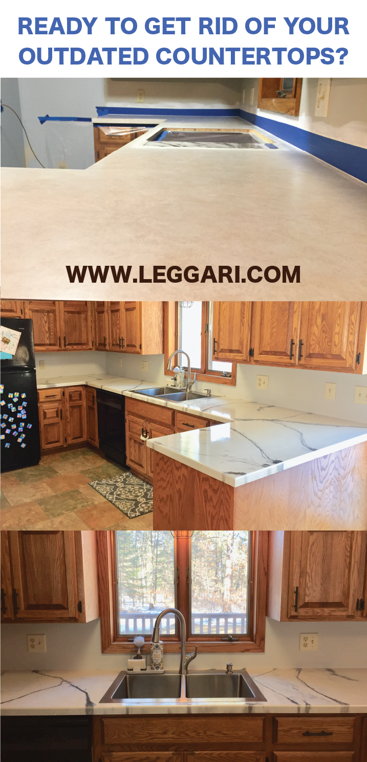 Kitchen transformation! Go over almost any surface and get