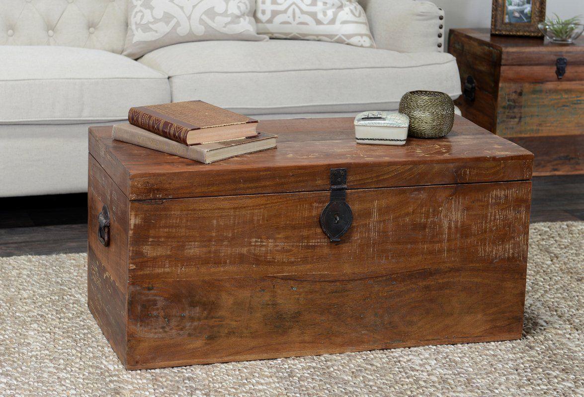 Bali Storage Chest Wood Storage Box Kosas Home Coffee Table Trunk