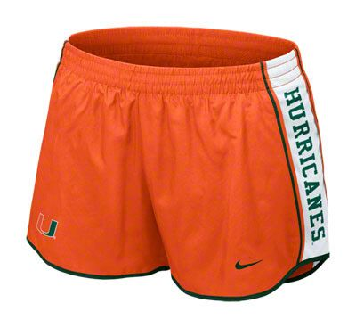 Miami Hurricanes Women's Nike Orange Dri-FIT Pacer Shorts