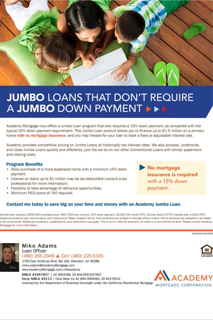Jumbo Loans By Academy Mortgage Mike Adams Loan Officer