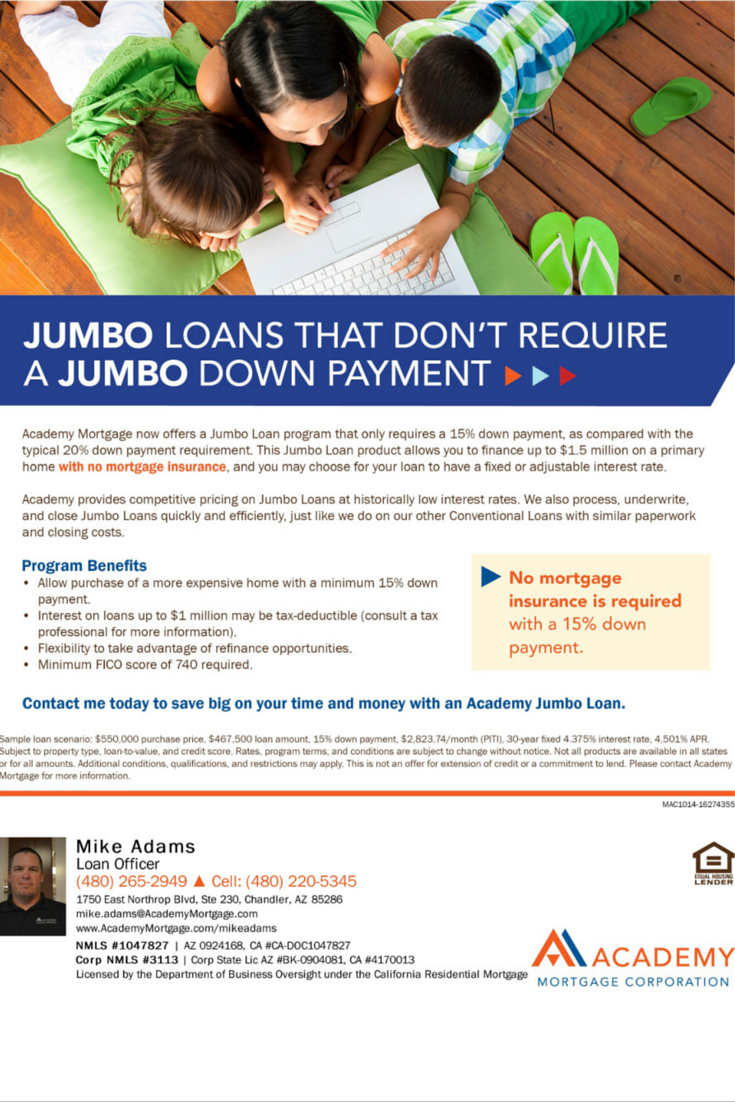 Jumbo Loans By Academy Mortgage Mike Adams Loan Officer At