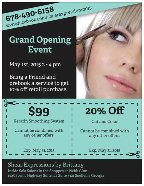 Hair Salon Grand Opening Flyer Templates Hair Salon Grand Opening Grand Opening Invitations