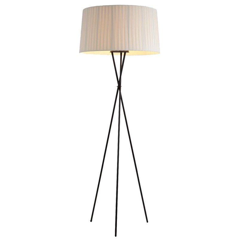 Creative Simple Floor Lamps Fabric White Black Red Lampshade Standing Lamp Living Room Bedroom Home Standing Lamp Living Room Red Lamp Shade Lamps Living Room