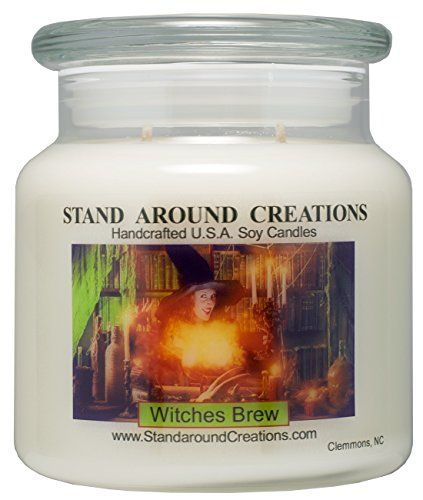 Premium 100 Soy Apothecary Candle  16 oz Witches Brew  Yankee Candle Type  A celebration of patchouli cinnamon and cedarwood *** Be sure to check out this awesome product.