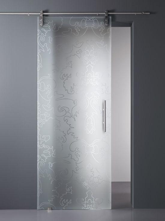 satinieres und geätztes glas schiebetür Vitrealspecchi | Bathroom ...