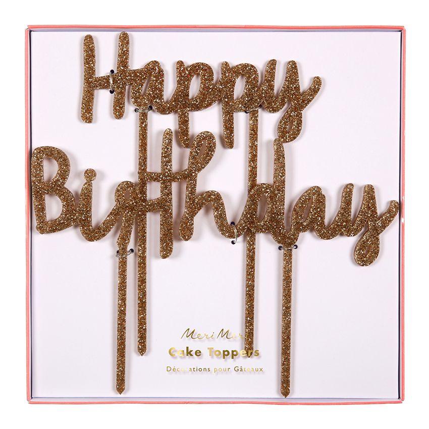 Happy birthday acrylic toppers happy birthday cake