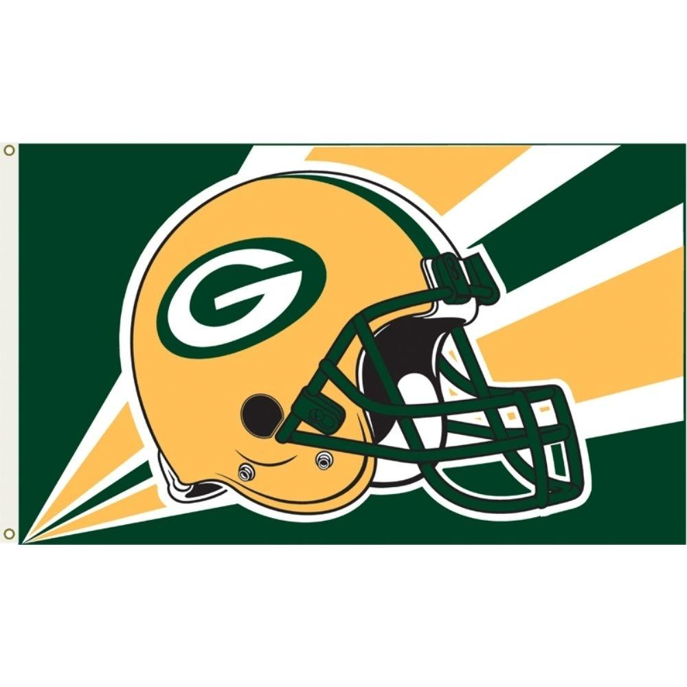Annin Flagmakers 3 Ft X 5 Ft Polyester Green Bay Packers Flag 1358 The Home Depot Green Bay Packers Helmet Nfl Flag Green Bay Packers