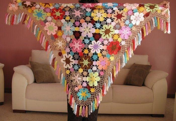 Fantastisk, hæklet sjal / Crochet shawl