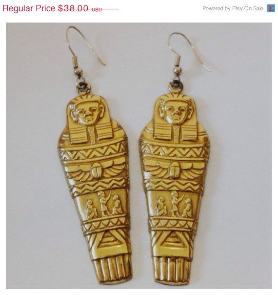 SALE Amazing Vintage Egyptian Revival Pharaoh by FlorentiaJewels