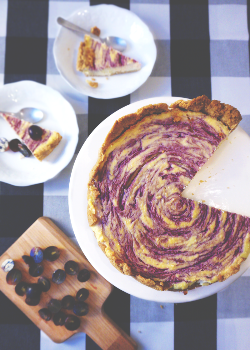 Cheesecake noix de coco et confiture de raisin - Coconut ...