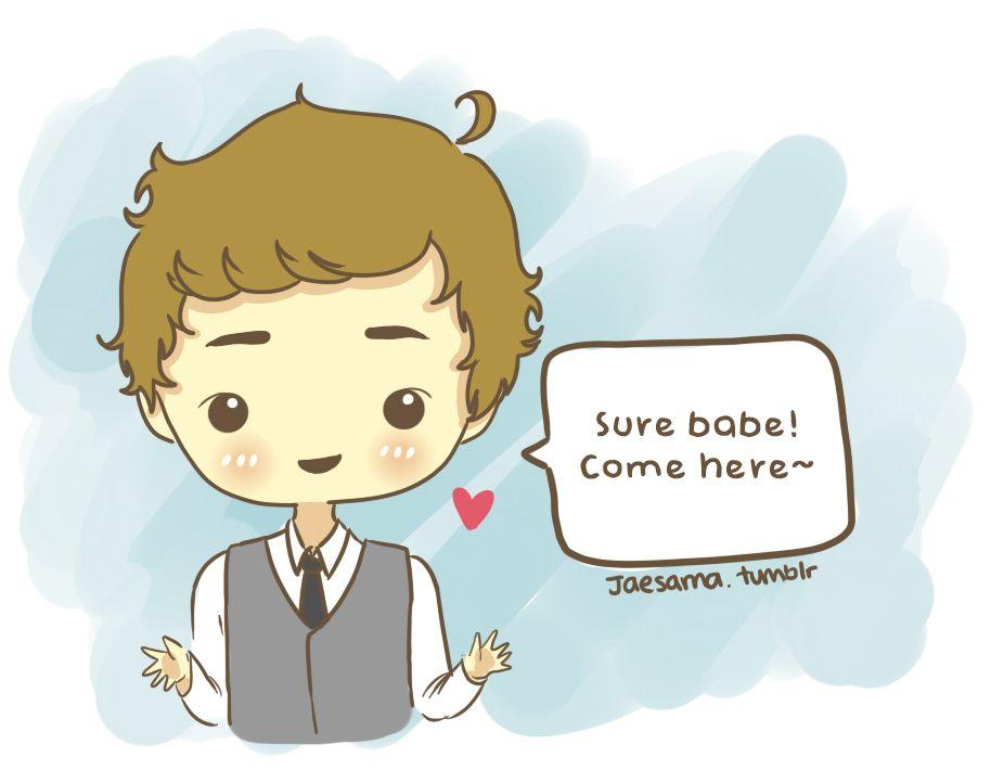 One Direction Cartoon Jaesama One Direction Cartoons Polyvore