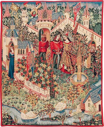 Guinevere Tapestry Camelot Wall Tapestries Le Roi Arthur Medieval Tapestry Medieval Art Tapestry Art