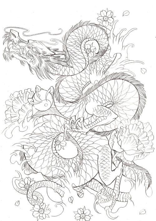 Japanese Dragon On Tumblr Tattoos Tatuajes Tatuajes Japoneses