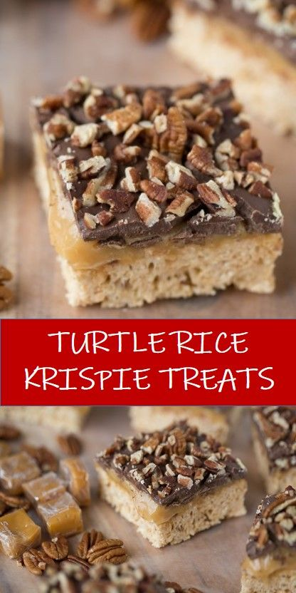 #recipe #food #drink #delicious #family #TURTLE #RICE #KRISPIE #TREATS #Best #Vegan #Recipes! #BestVeganRecipes! Tasty healthy food and drink that you definitely like TURTLE RICE KRISPIE TREATS #marshmallowtreats