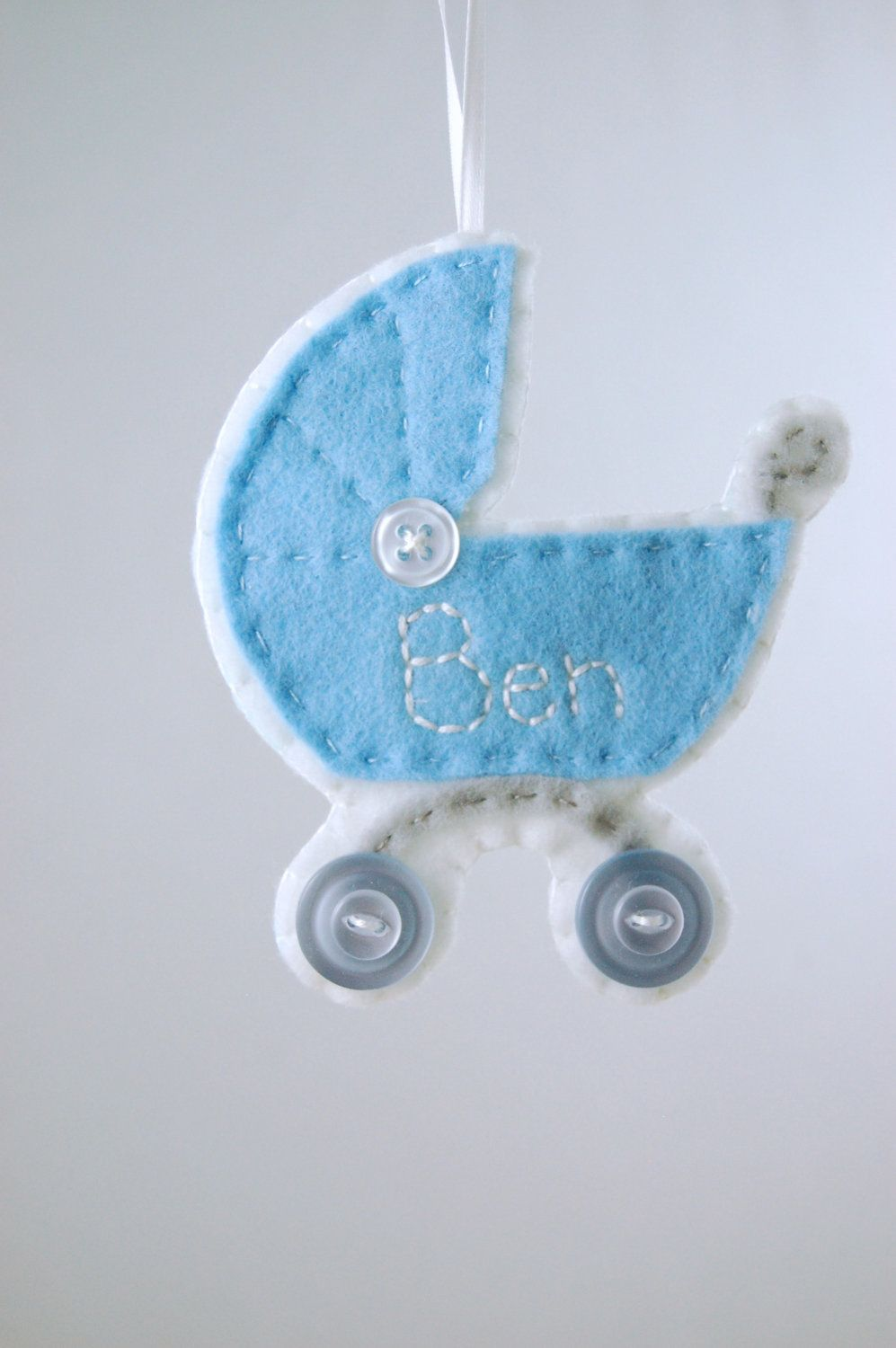 Personalized baby christmas ornaments - Personalized Baby Boy Ornament Made To Order Felt Ornament