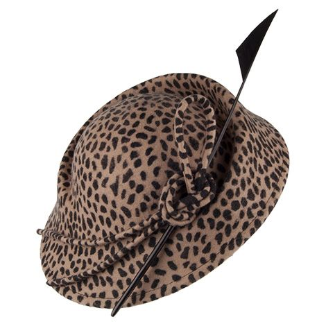 1147edb6229321 Whiteley Leopold Pillbox Hat With Quill - Leopard in 2019 | Шляпки ...