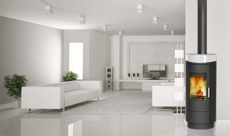 poele a bois rouge in wanders home am nager. Black Bedroom Furniture Sets. Home Design Ideas
