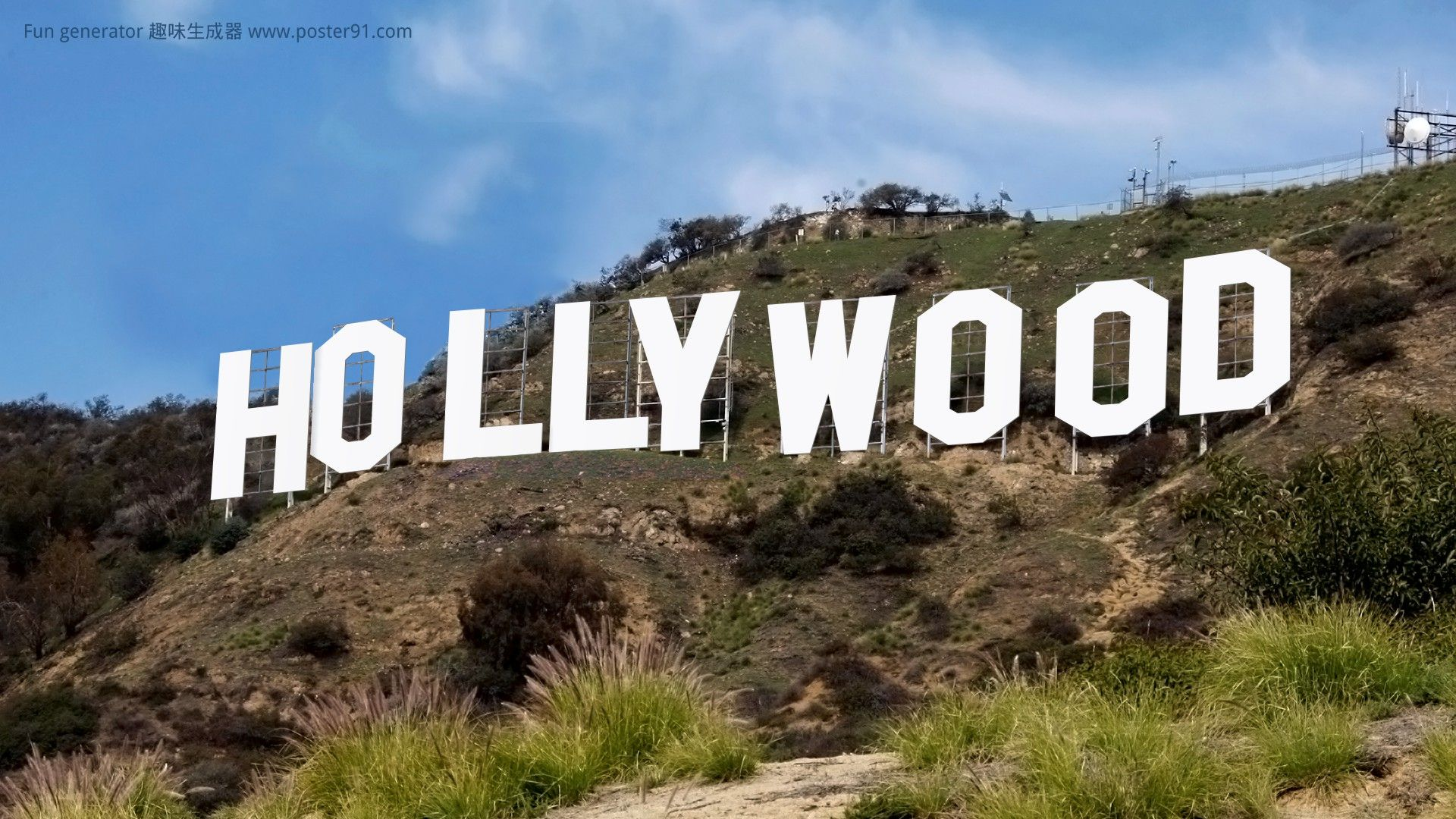 Hollywood sign generator We believe this is the best one