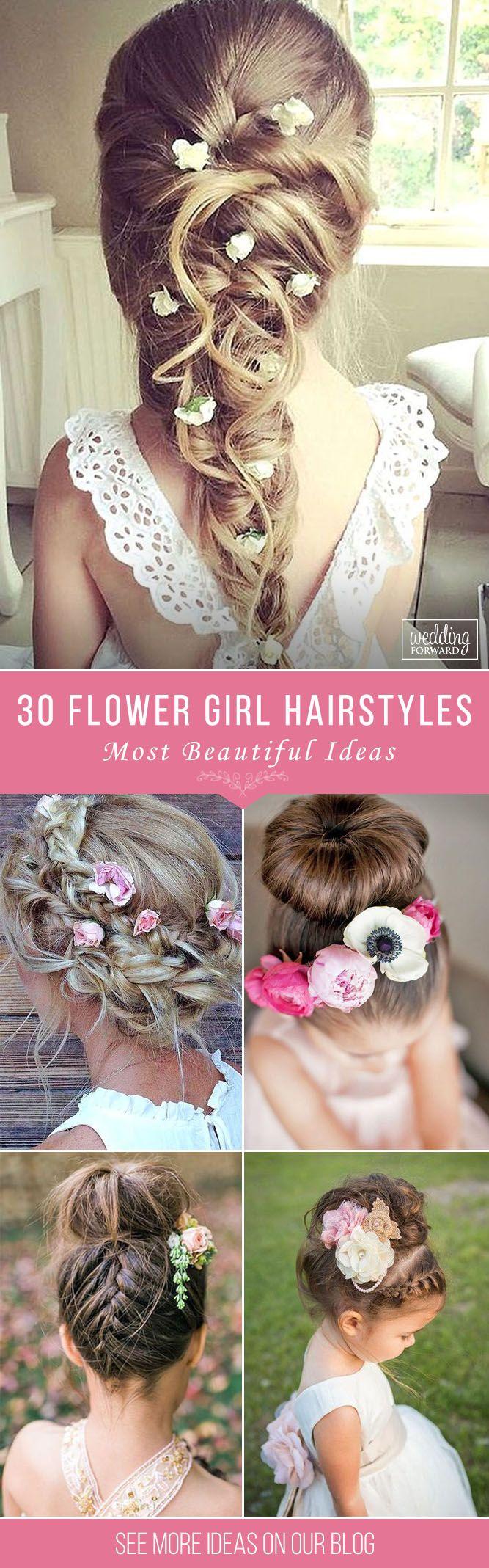 33 Cute Flower Girl Hairstyles (2017 Update | Pinterest | Simple ...
