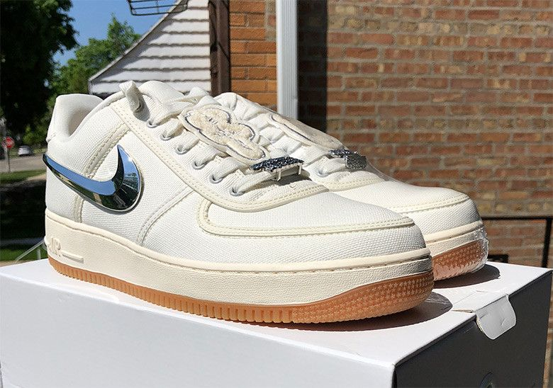 Up Close With The Travis Scott X Nike Air Force 1 In Sail With