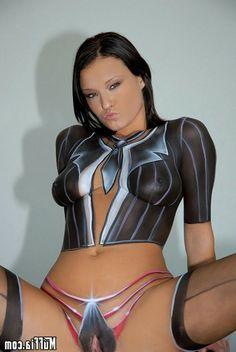 Sexy girls body paint
