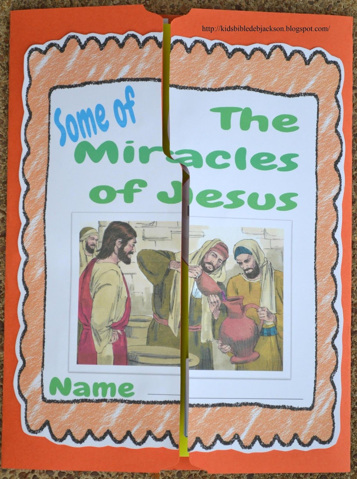 Some Of The Miracles Of Jesus Lap Book Teachers Guide A