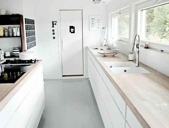 53 variantes pour les cuisines blanches! | Decorating and Kitchens