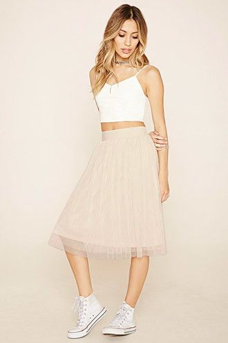 Mesh A-Line Skirt | Forever 21 | Skirts, A line skirts, Knit