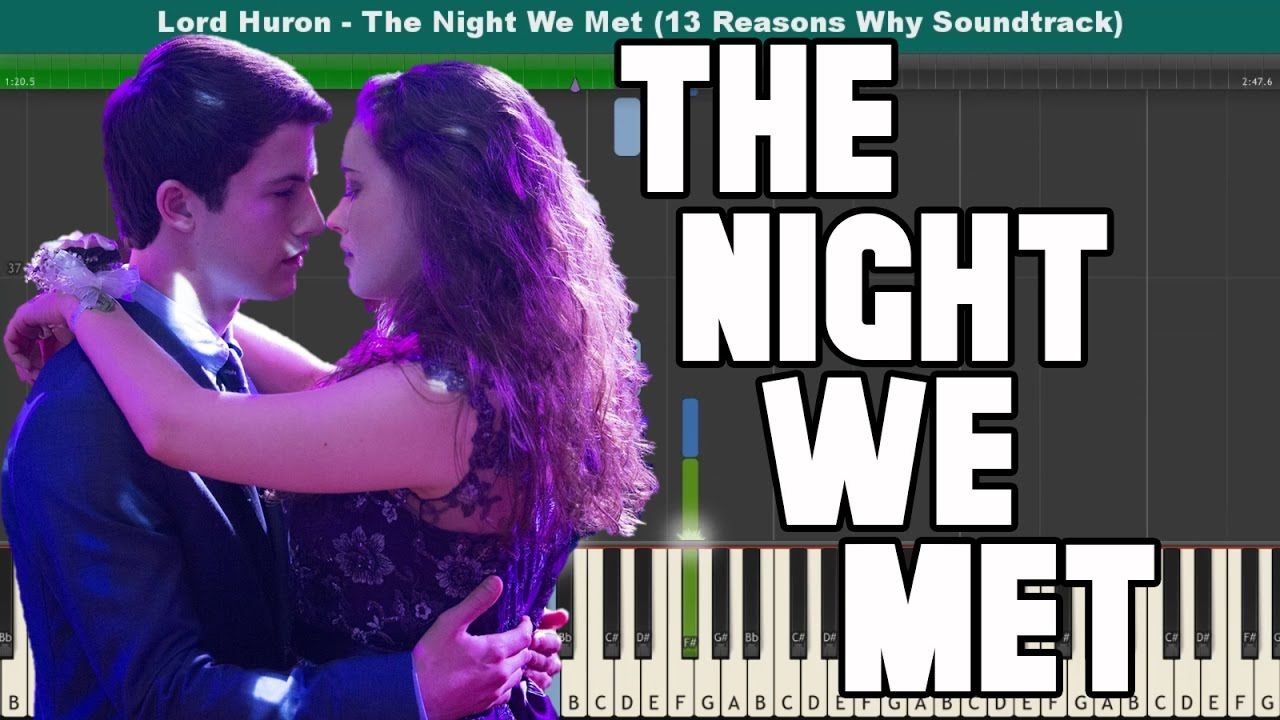 The Night We Met Piano Tutorial Lord Huron 13 Reasons Why