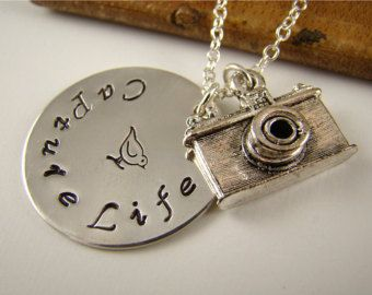 Camera Pendant Necklace, Camera Charm, Unique Photographer Gift, Photography, Personalized Jewelry, Capture Life