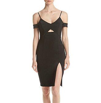 Emerald Sundae® Spaghetti Strap Off Shoulder Bodycon Dress