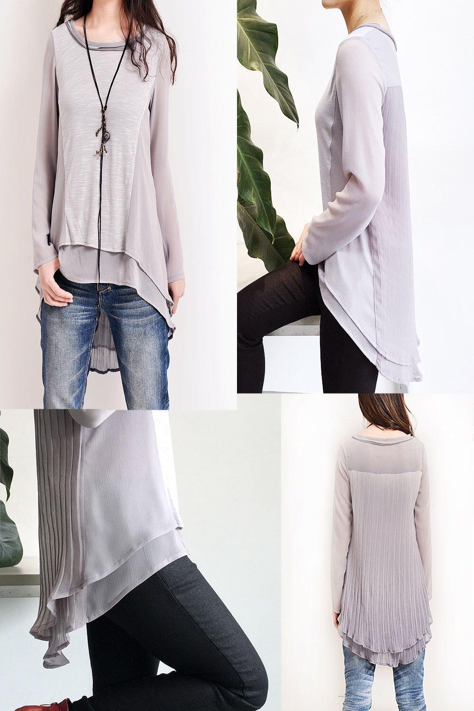927644da682f9a Gossamer - zen layering cotton tunic   chiffon tunic top   boho patchwork  blouse   short