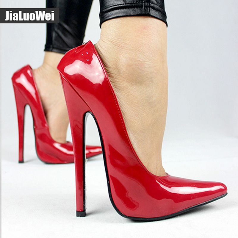 c50a8ee12502 Jialuowei FETISH 6 inch EXTREME HEEL Funtasma high heel ballet shoes Sexy Patent  Heels Halloween ballet shoes Plus size 36-46