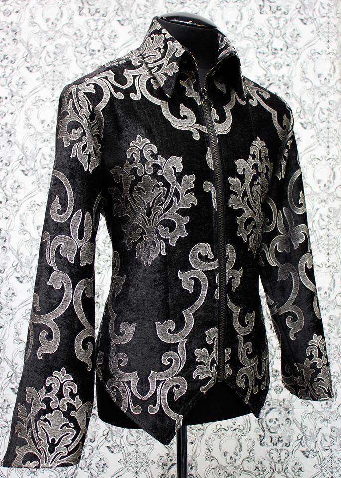 Shrine Mens Formal Victorian Gothic Steampunk Rocker Pants Black Velvet