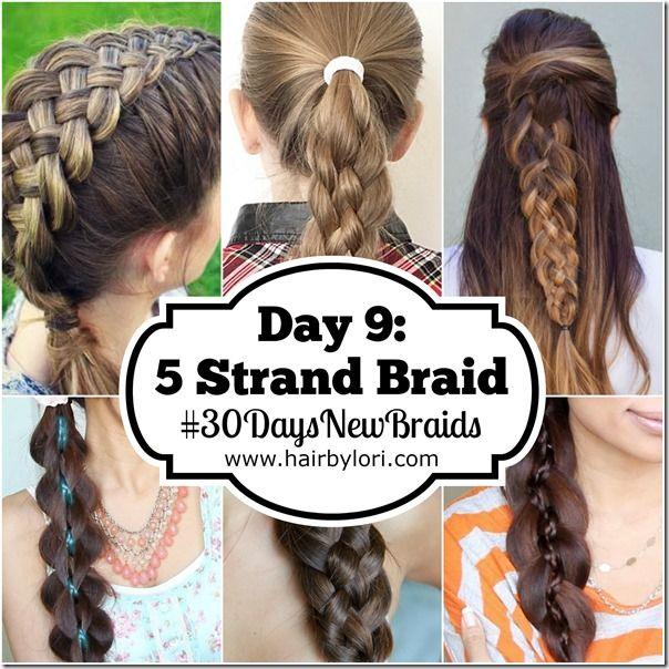 Day 9 5 Strand Braid Hair Pinterest Girl Hair