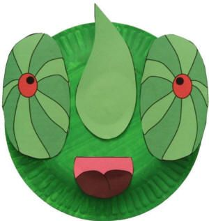 Free printable templates and instructions for making a chameleon paper plate craft or mask.  sc 1 st  Pinterest & lizard crafts | dltk s crafts for kids paper plate chameleon craft ...