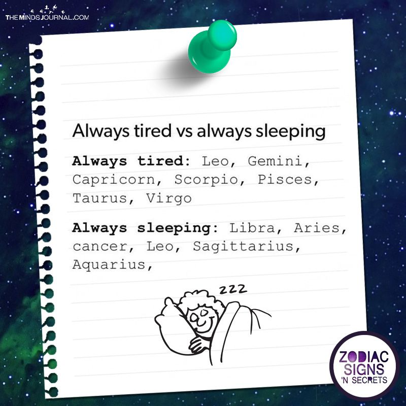 Always Tired Vs Always Sleeping | Zodiac Signs | Zodiac signs