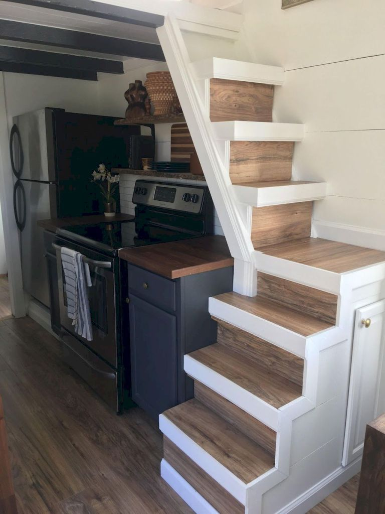 Amazing loft stair for tiny house ideas (57 | Cocina vintage ...